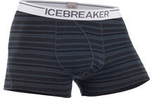 Icebreaker Men's Anatomica Boxers stripe monsoon white